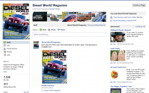 Diesel World Magazine Facebook page