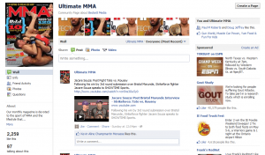 Ultimate MMA Facebook page